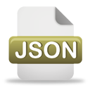 Ícone de download do arquivo JSON