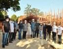 CMS integra comitiva de autoridades durante visitação em obras estruturantes em Santana