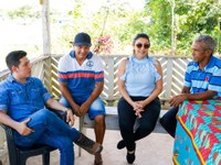 Vereadores de Santana promovem visita a comunidade do Igarapé do Lago